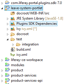 liferay-7-portlet-project-struture