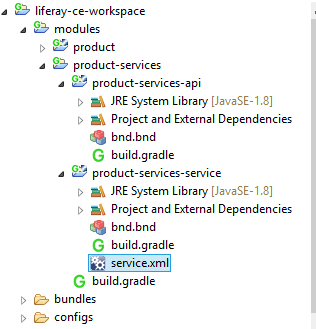liferay7 service builder folders