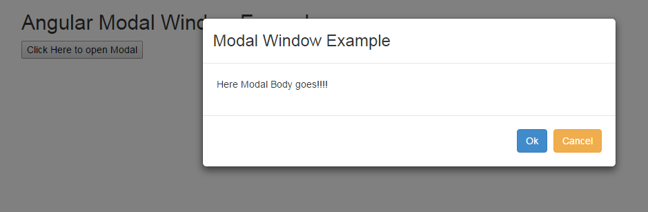 AngularJS Modal Window Tutorial