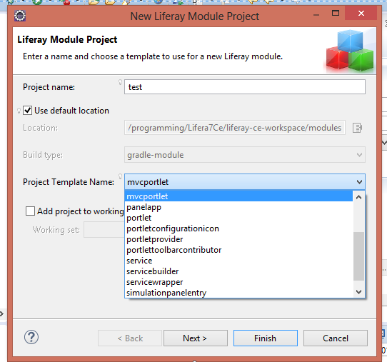 Liferay7 Project template