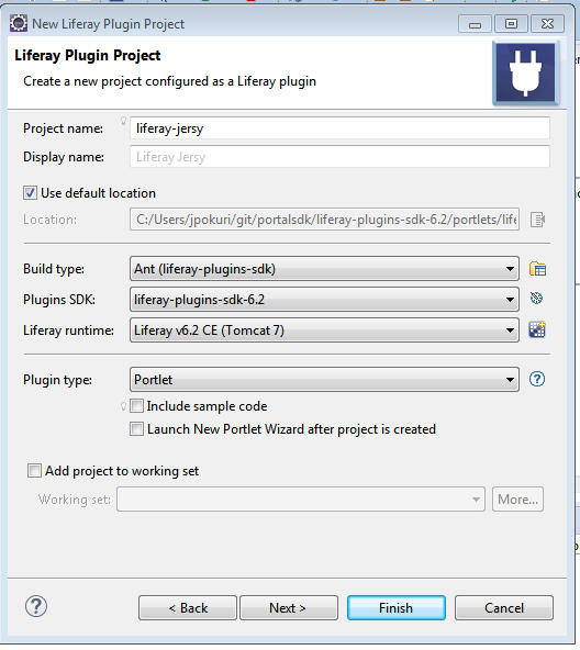 Liferay Jersey Integration