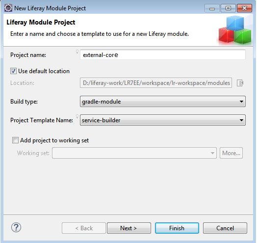 Liferay 7 Custom Database