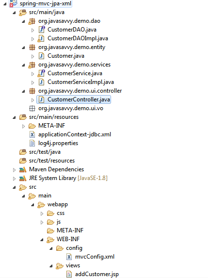 Spring XML Project Structure